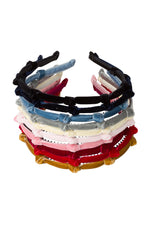 Load image into Gallery viewer, Rosebud Headband - Red Velvet - PROJECT 6, modest fashion