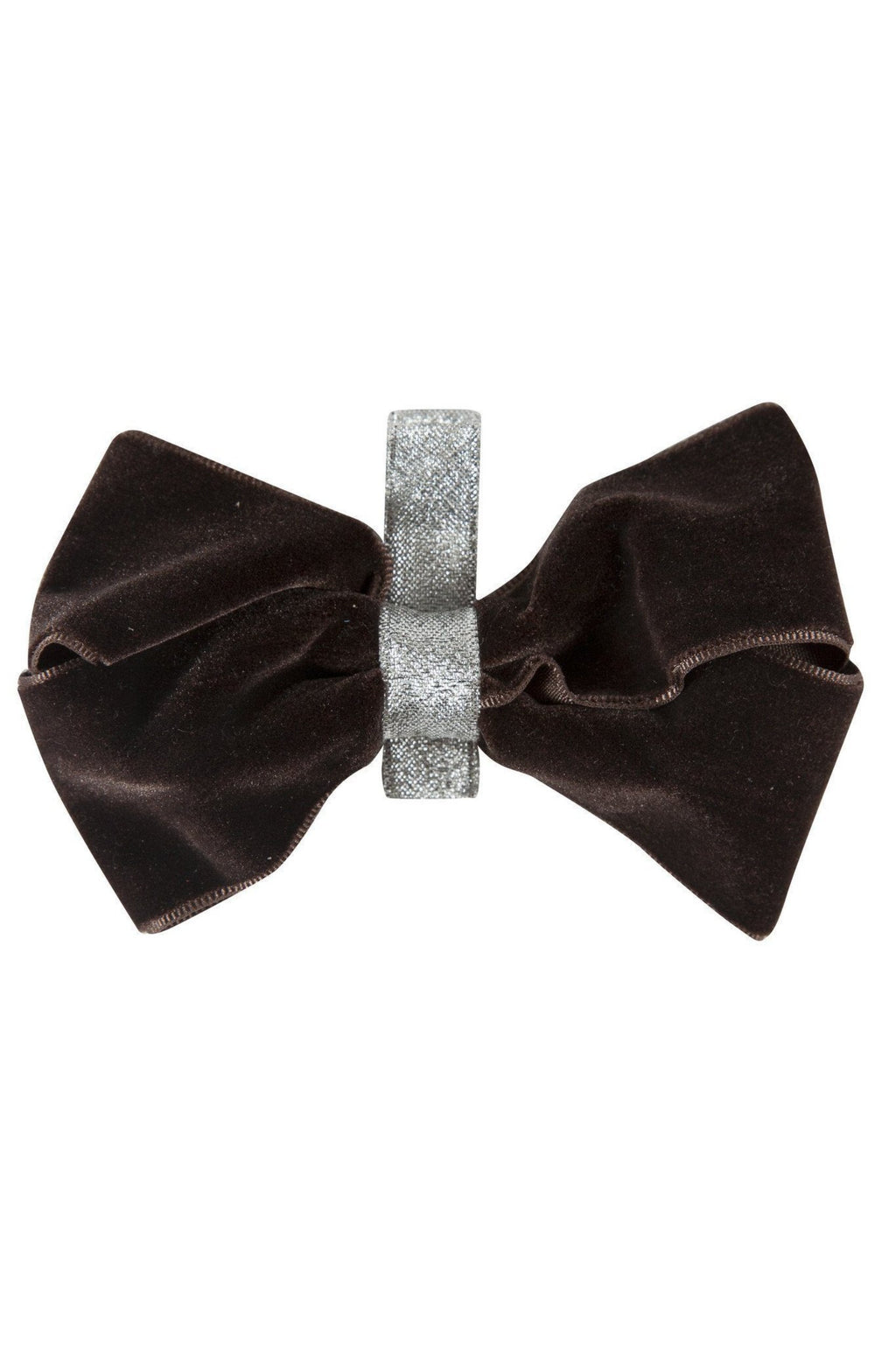 Heather Velvet Clip - Brown/Silver - PROJECT 6, modest fashion