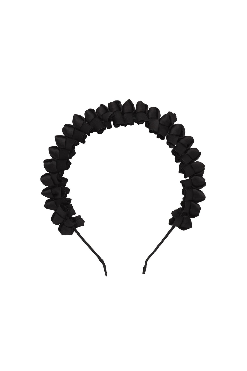 Satin Tied Headband - Black - PROJECT 6, modest fashion