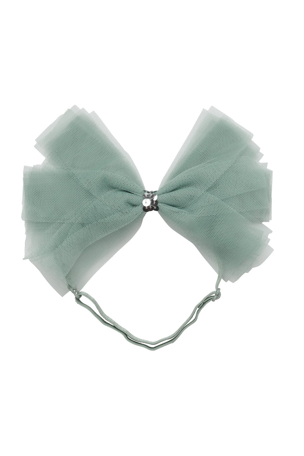 Soft Tulle Strips CLIP + WRAP - Smokey Green - PROJECT 6, modest fashion