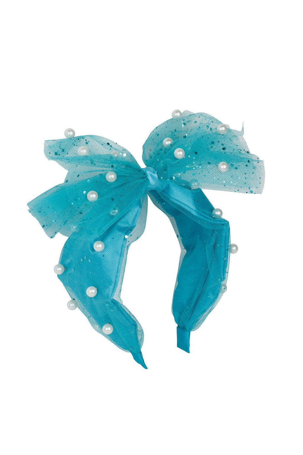 Tulle Pearl Headband - Turquoise - PROJECT 6, modest fashion