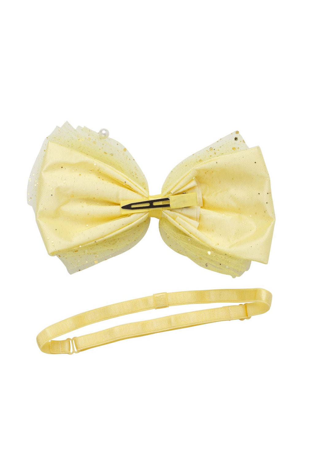 Tulle Pearl Clip/Wrap - Yellow - PROJECT 6, modest fashion