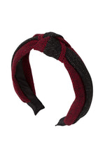 Load image into Gallery viewer, Knot Herringbone Headband - Red/Black - PROJECT 6, modest fashion