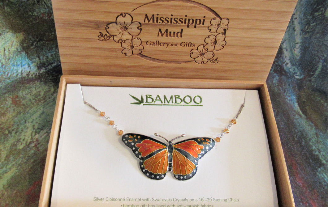 Monarch Butterfly Large  Pendant