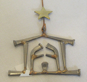Nail Nativity Ornament