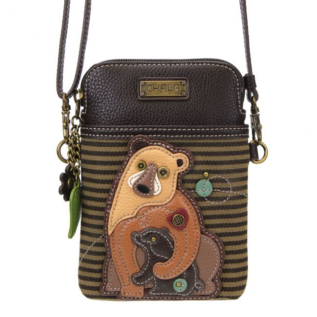Cell Phone Xbody-2 Bears Olive Stripe