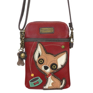 Cellphone Xbody Chihuahua Burgandy
