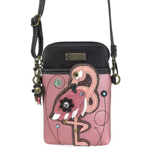 Cell Phone Xbody Flamingo Glitter Pink