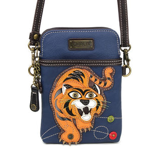Cellphone Crossbody Tiger Navy
