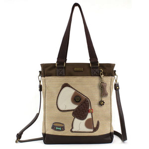 Work Tote-Brown Stripe-Dog