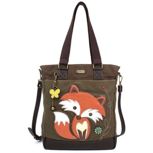 Work Tote-Fox-Brown Stripe
