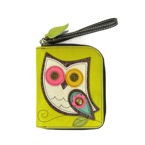 Zip Around WALLET OWL MUSTARD