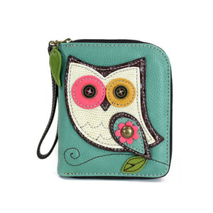 Zip Around Wallet Owl