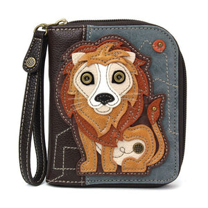 Zip Around Wallet Lion Indigo