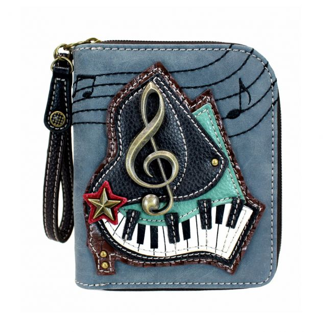 Zip Around Wallet Piano Indigo