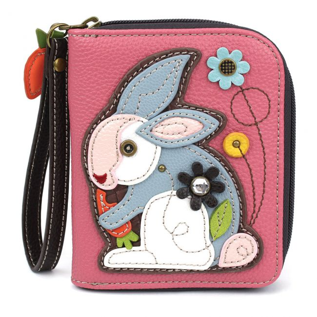 Zip Around Wallet Rabbit Pink