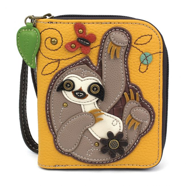 Zip Around Wallet Sloth Yellow