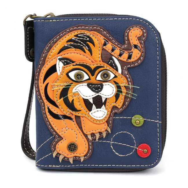 Zip Around Wallet Tiger Navy