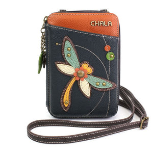 Wallet crossbody-dragonfly-navy