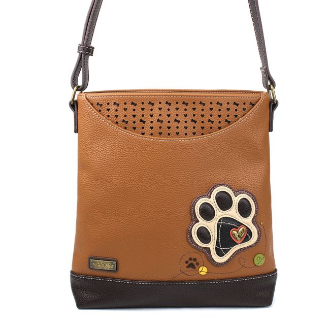 Sweet Messenger Paw Print Brown