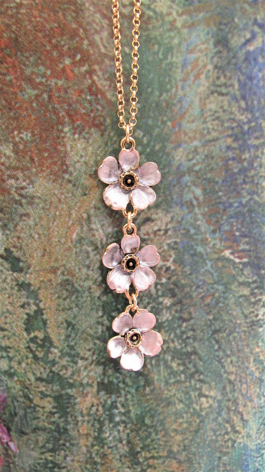 Triple Cherry Blossom Necklace