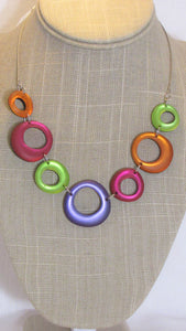 Sherbet  Circles Necklace