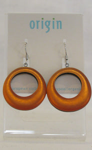 Orange Circle Earring