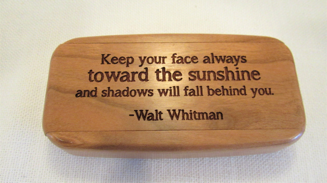 Cherry Wood Quote - Face/Sunshine