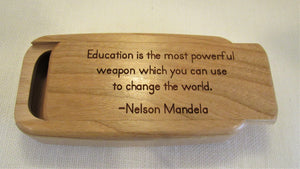 Cherry Wood- Education Is the most powerful weapon