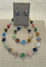 Load image into Gallery viewer, Mille Fiori Cube Necklace