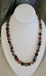 Crackle Agate Stones Necklace