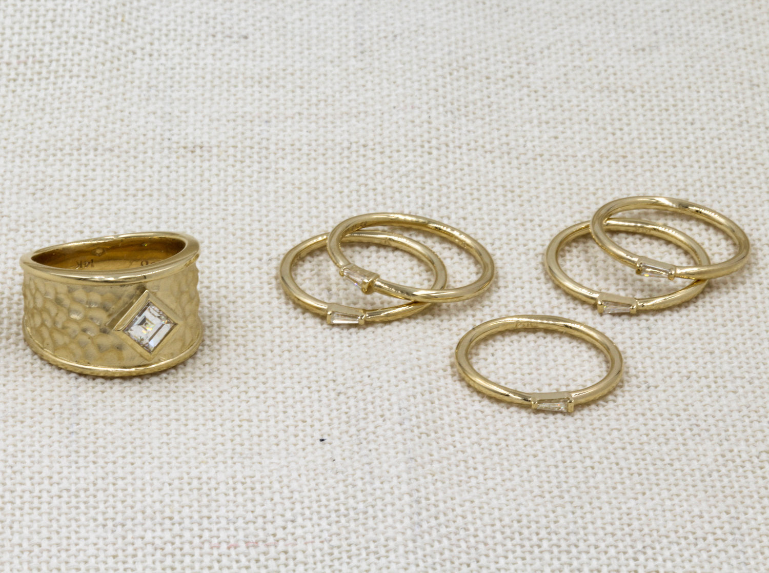 From Parents' Wedding Set to Six New Rings