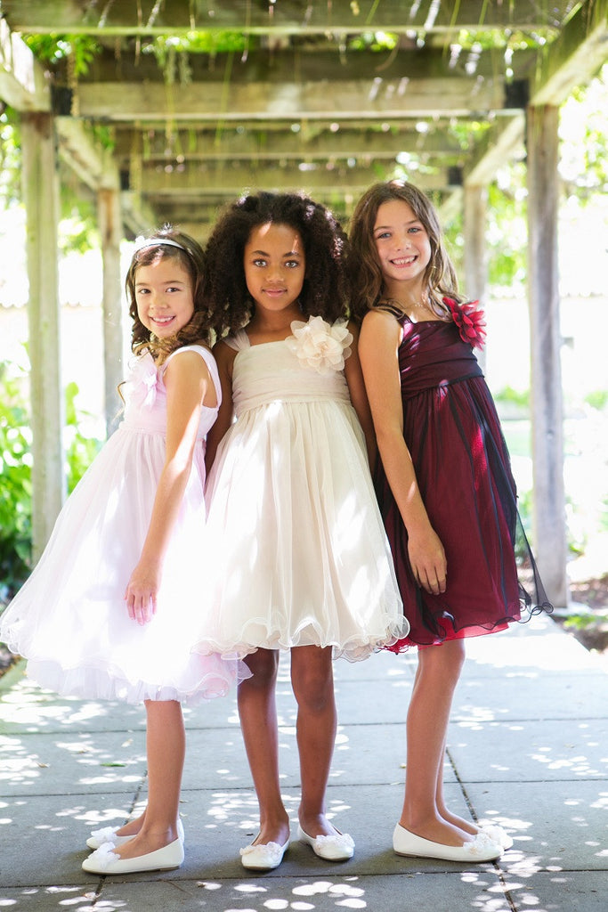 tulle flower girls dress