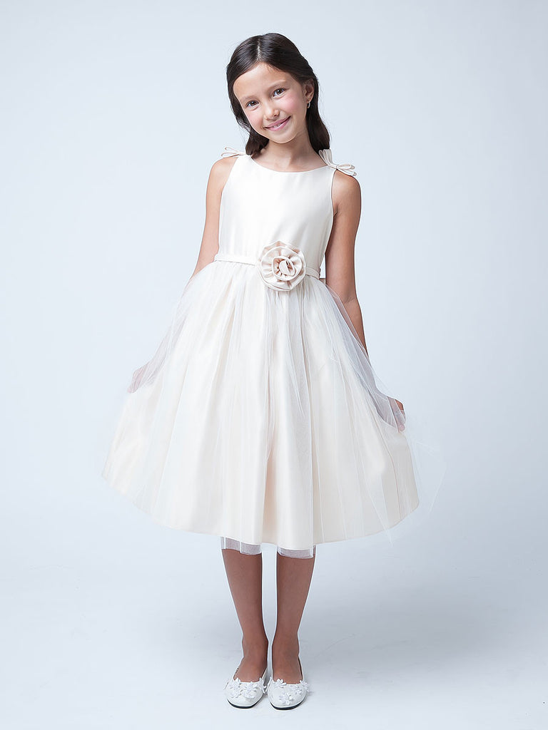 ivory girls party dress