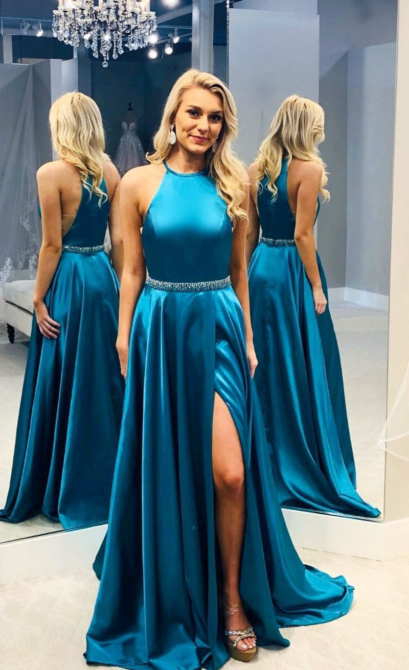 slit long prom dress