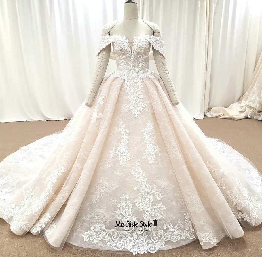 ball gown colorful wedding dress