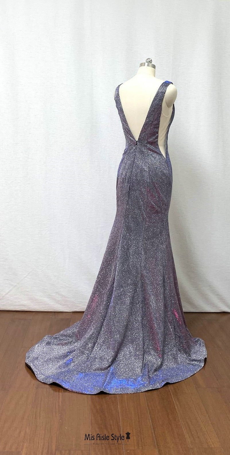 low back mermaid wedding guest dress
