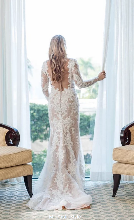 mermaid long sleeve wedding dress