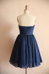 short navy blue homecoming dress