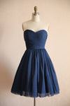 short navy blue party dress