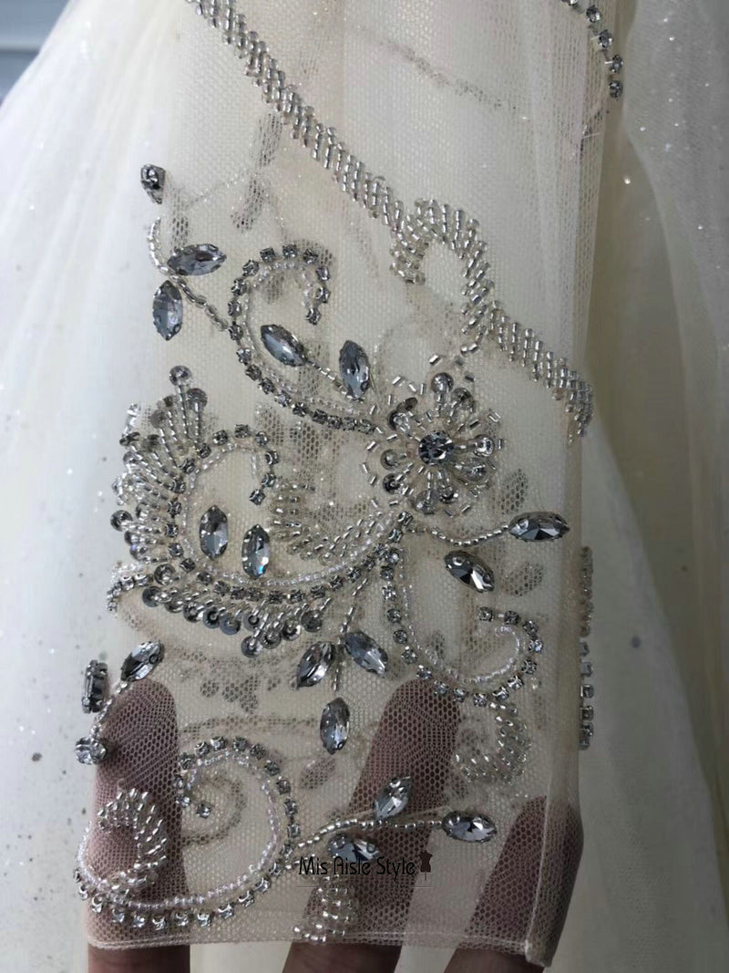 handmade beaded wedding dress