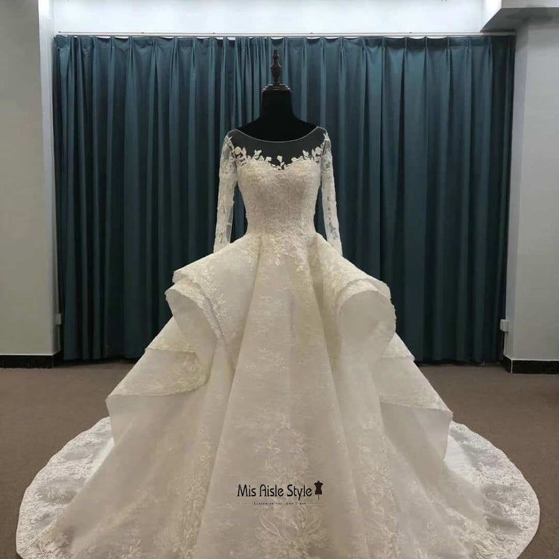 long sleeves wedding dress
