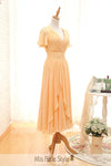 yellow wedding party dress