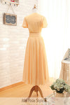 tea length bridesmaid dress
