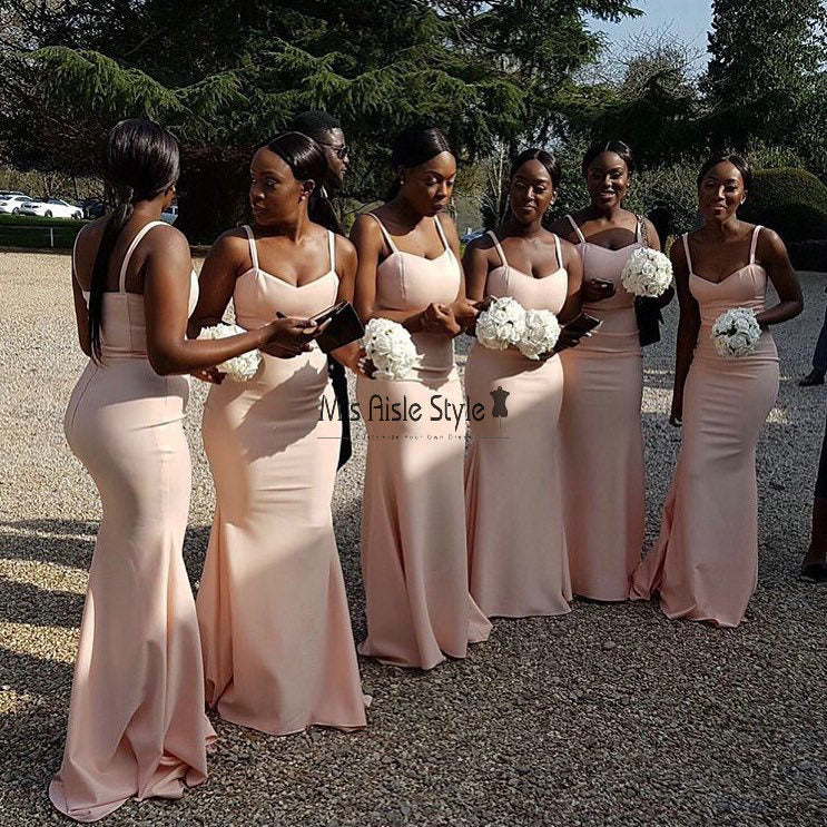 Mermaid Nude Bridesmaid Dress