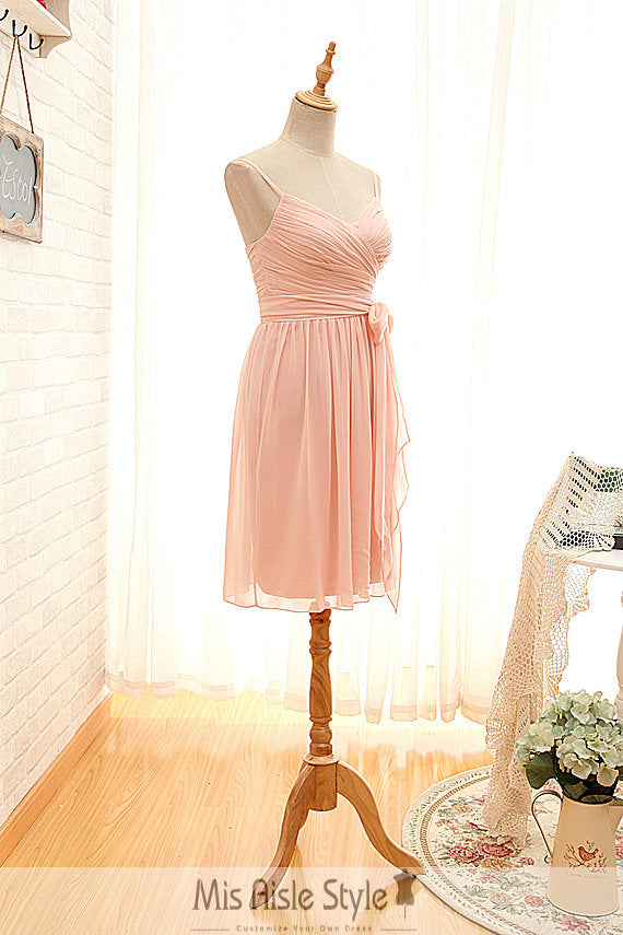 Pearl Pink Bridesmaid Dress