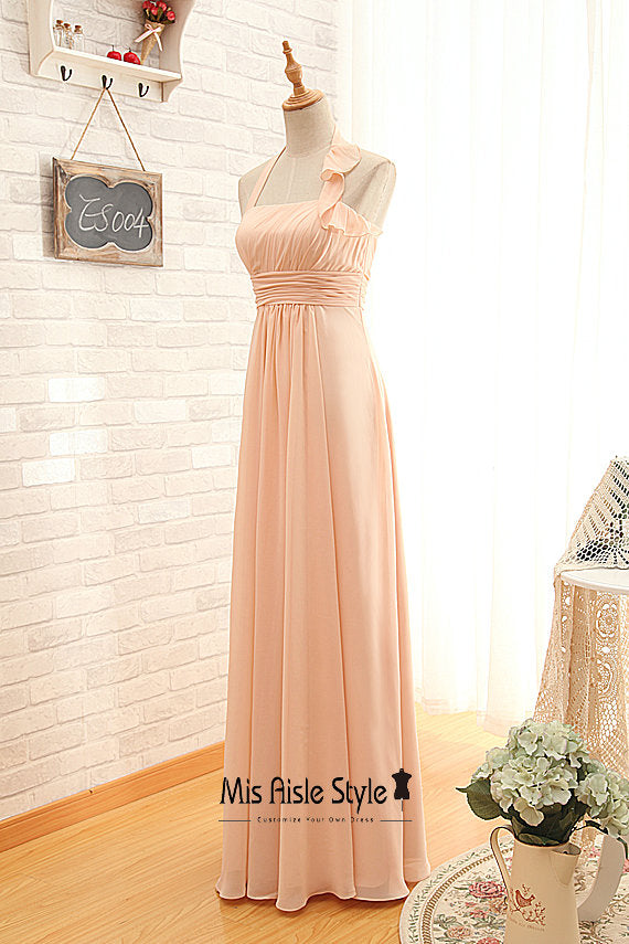 cheap blush bridesmaid dress