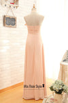 halter blush bridesmaid dress