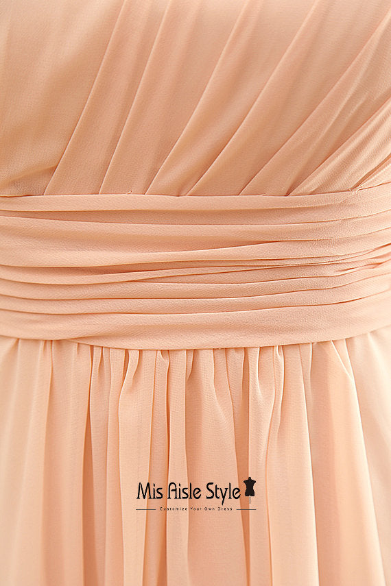 Halter Neckline Blush Bridesmaid Dress