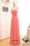 cheap coral bridesmaid dress